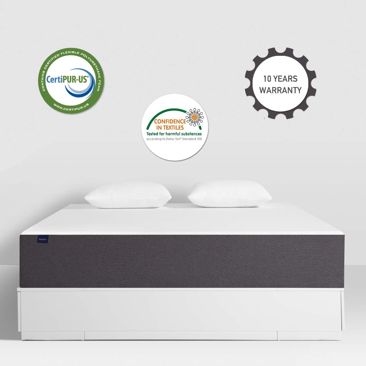Amazon.com - Full Mattress, Molblly Premium 10 Inch Gel Memory Foam Mattress in a Box, Breathable Bed Mattress with CertiPUR-US Certified Foam for Sleep ...