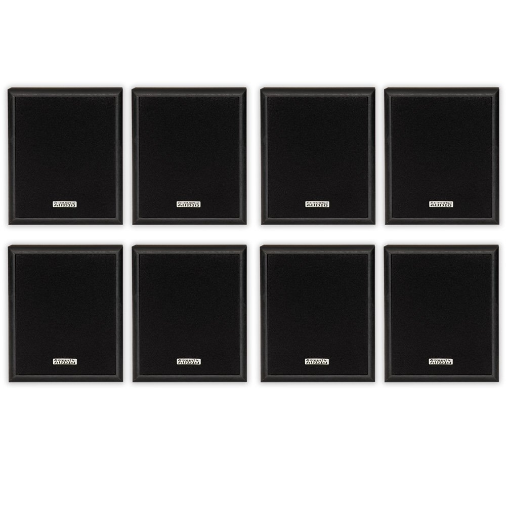 Acoustic Audio RW-SP3 Bookshelf Speakers 400 Watt 2 Way Home Theater Audio 4 Pair Pack RW-SP3-4PR by Acoustic Audio by Goldwood