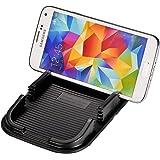 Eximtrade Universel Antidérapant Gluant Tampon Tableau de Bord Support de Téléphone avec 2 Slots pour Apple iPhone 4/4s/5/5s/6/6s/6 Plus/6s Plus/7/7 Plus, Samsung Galaxy S4/S5/S6/S6 Edge/S6 Edge Plus/S7 Edge/Note 3/Note 4/Note 5, HTC One, Motorola, Sony Xperia, autre Smartphones