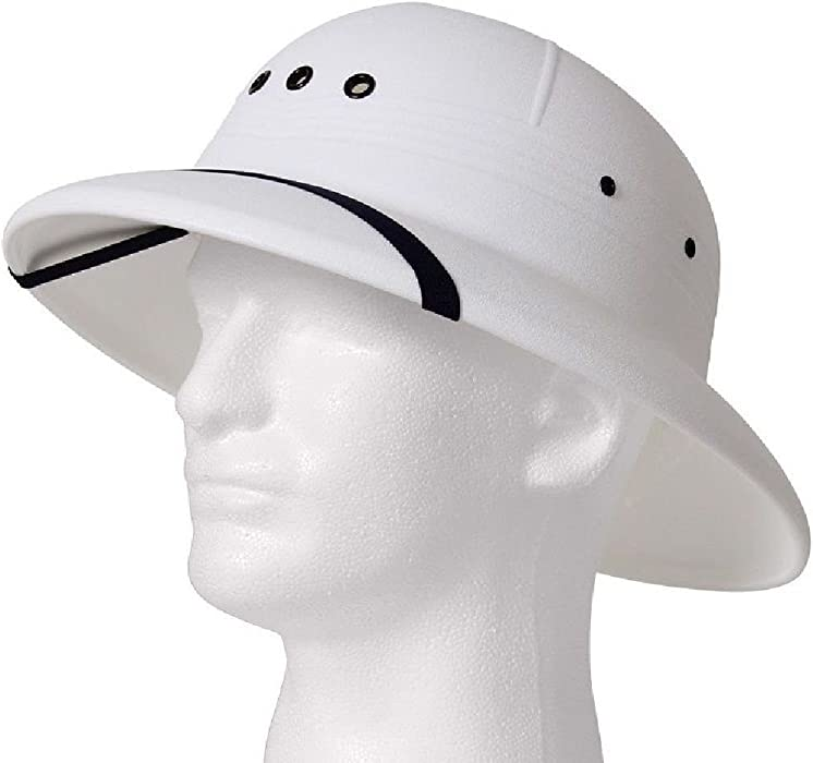 76799d5ce4bc8 Amazon.com  Pith Helmet Vietnam Style Light Weight Hard Plastic Safari Pith  Helmet  Clothing