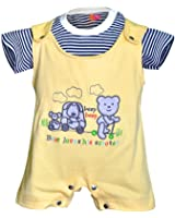 Orange and Orchid Baby Boys Cotton Tops & Bottoms Sets