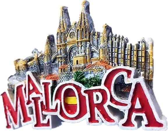 Weekinglo Souvenir Imán de Nevera Búho Mallorca España 3D Resina Artesanía Hecha A Mano Turista Ciudad de Recuerdos de Recuerdos Carta de Refrigerador Etiqueta: Amazon.es: Hogar