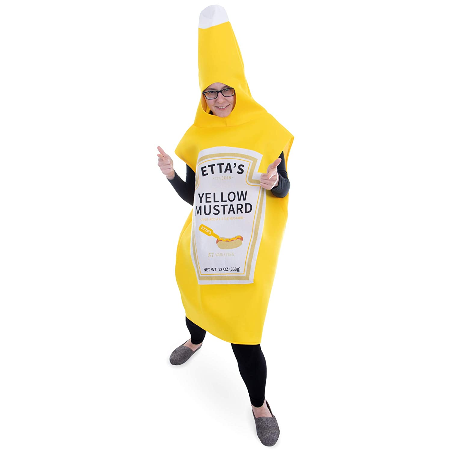Boo Inc Yellow Mustard Halloween Costume Classic Condiment Funny Food Outfit