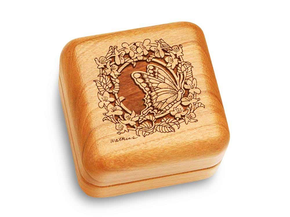 Music Box 2 1/2'' Square - Butterfly - Walz Of The Flowers