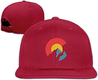 hanbaozhou Gorras béisbol Colorado Flag Solid Snapback Baseball Hat Cap One Size