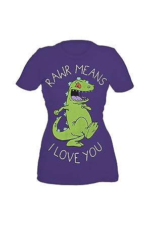 6c0f348c15a Amazon.com  Rugrats Reptar Rawr Means I Love You Girls T-Shirt Plus ...