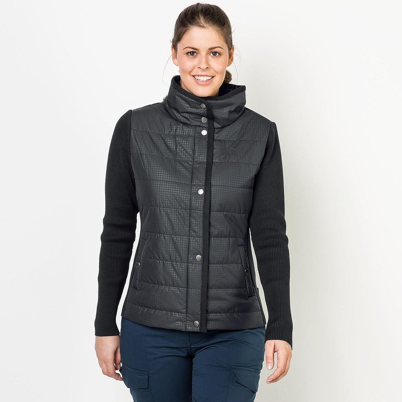 e4ad6dc6381 Jack Wolfskin Women s Clarington Black All Over X-Small at Amazon Women s  Coats Shop