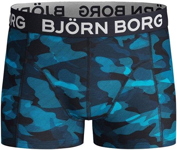 Blue//Multi Bjorn Borg 2-Pack Geo Flags /& Camo Boys Boxer Trunks