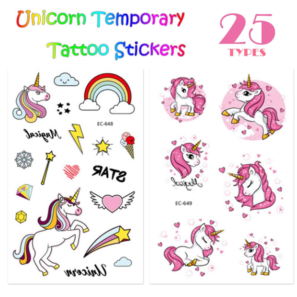 Joston Unicorn Party Supplies Rainbow Night Glow Keychains Key Ring Pack of 30