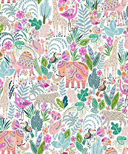 Party Explosions Henna Jungle Animals Glossy Gift Wrap Flat Sheet - 24