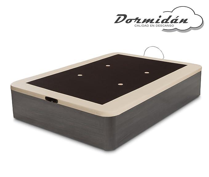 Dormidán - Canapé abatible Gran Capacidad Esquinas Redondeadas macizas, Base tapizada en 3D Transpirable/Polipiel, 4 válvulas de aireación, 90x190cm, ...