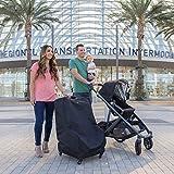 J.L. Childress Spinner Wheelie Deluxe Car Seat Travel Bag - Black