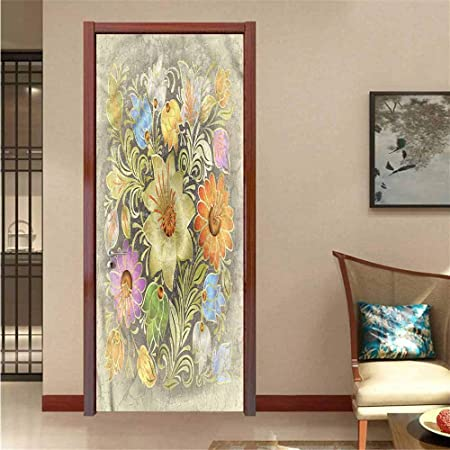 Amazon.com: Homesonne Grunge,3D Wallpaper DIY Art Vintage ...