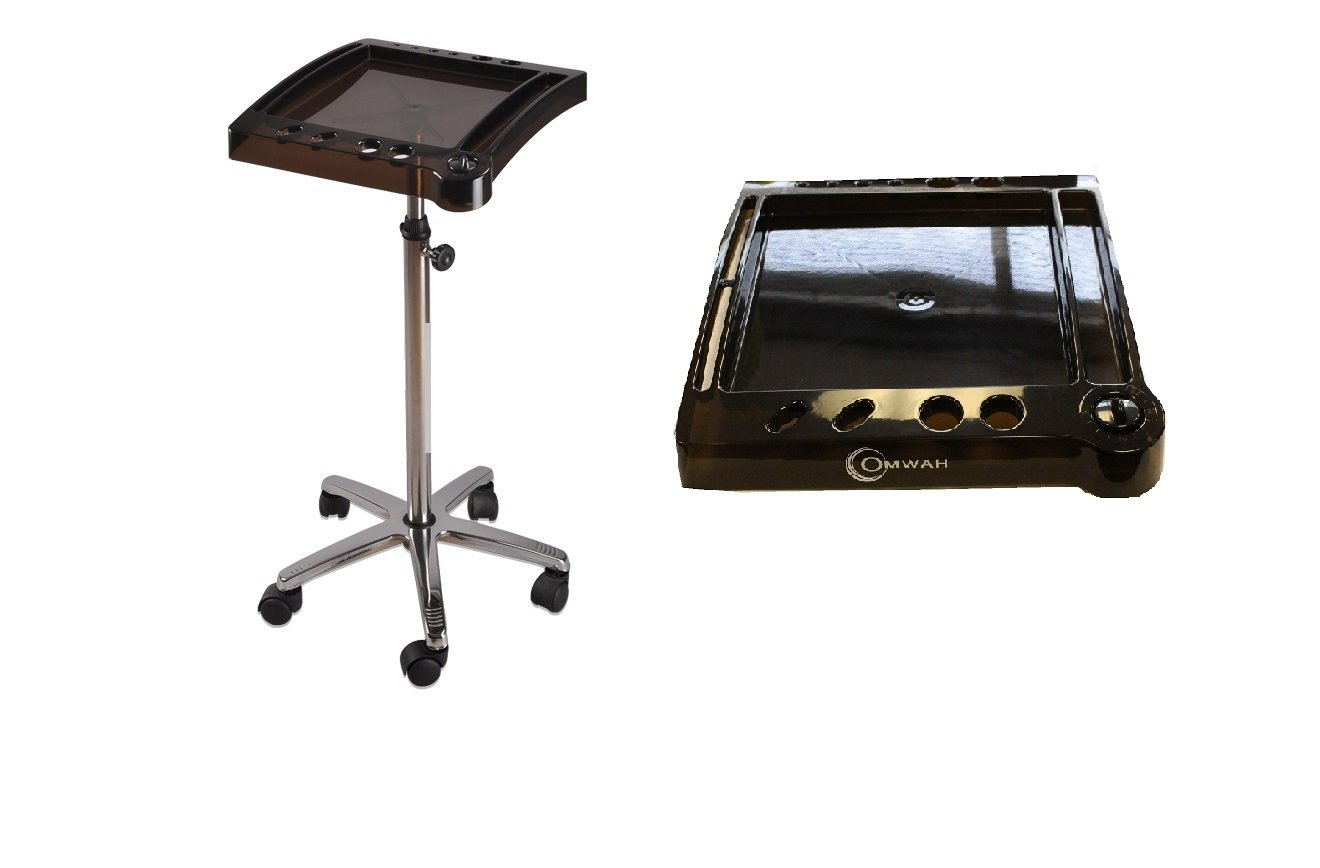 Salon Spa Color Chemical Tray Trolley Roll About Cart With Timer Omwah.Inc