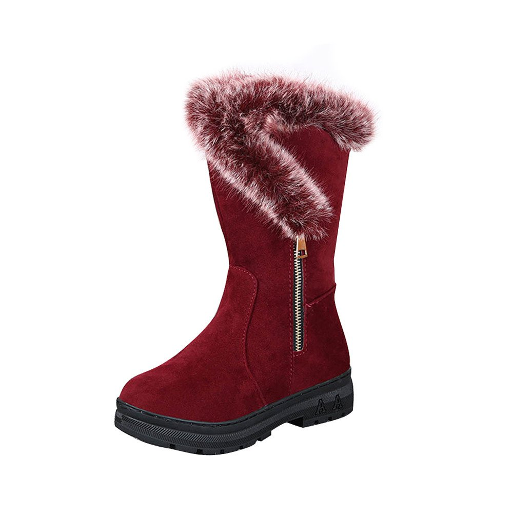 Fashion Ladies Women Boots Flat Winter Warm Snow Shoes Egmy Womens Winter Boots