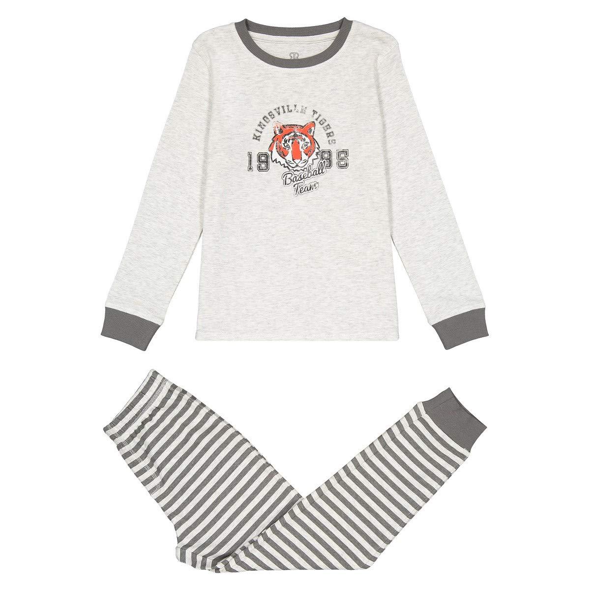 La Redoute Collections Big Boys Printed Cotton Long-Sleeved Pyjamas 3-12 Years