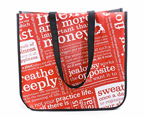 Lululemon Red with Graphic Print Large Reusable Tote Carryall Gym Bag