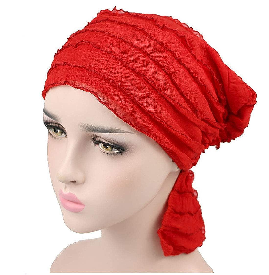 Cancro Sonno Boomly Elegante Berretto Turbante Copricapo Cappellino per Chemioterapia in Chiffon Wrap Testa Fascia Turbante per Chemio Musulmano Perdita dei Capelli