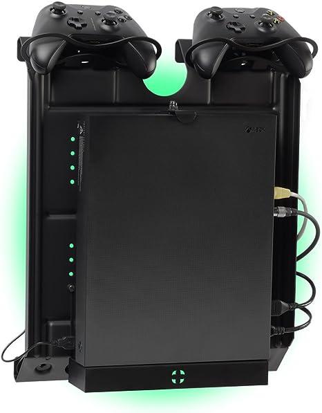 GameSide - Soporte de pared vertical con ventiladores, USB led ...