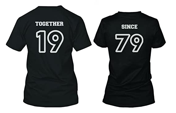 327af79ce Custom Couple Shirts - Together Since - Cute Personalized Matching Shirts  (LEFT- 2XL /