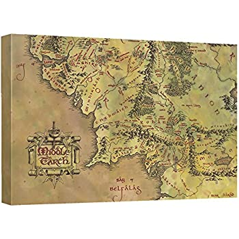 trevco lord of the ringsmiddle earth map lor cnvs wall art wbk