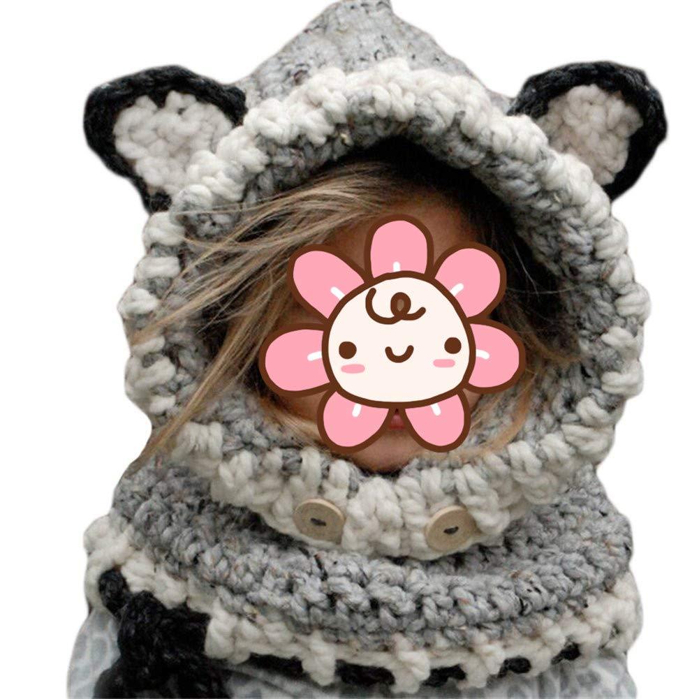 Berretti Inverno maglia Bambini Scialle Cappello autunno e inverno sciarpa a maglia protezione del bambino con un cappello