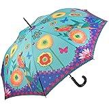 Regenschirm Automatik Damen Kinder Stockschirm UV-Schutz  Froschfamilie 5530A