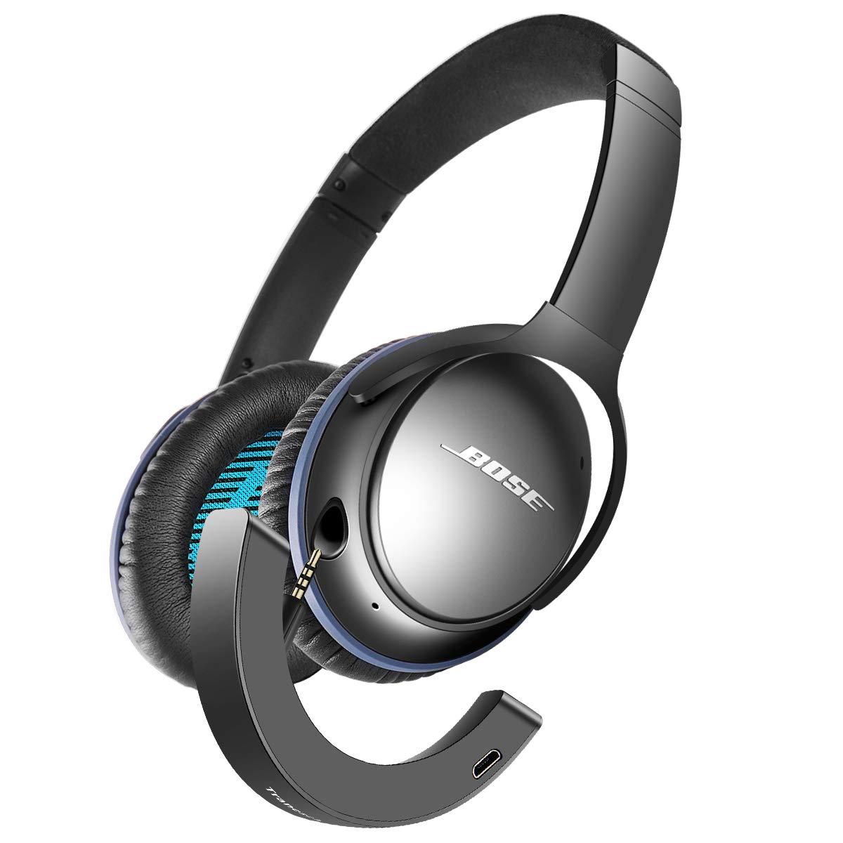 Tranesca Compatible Bluetooth Adapter Receiver for Bose quietcomfort 25 Headphone (Black) by Tranesca