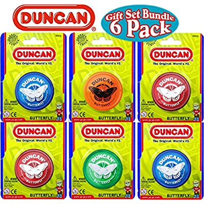 Duncan Yo-Yo Butterfly Gift Set Bundle - 6 Pack (Assorted Colors): Toys & Games