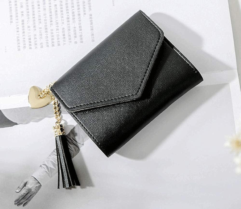 Women Girl Small Wallet Lady Leather Folding Cash Card Holder Money Purse Y2