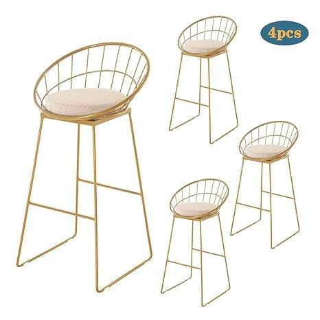 Pleasing Amazon Com Yert Gold Counter Bar Stool High Stool Linen Bralicious Painted Fabric Chair Ideas Braliciousco