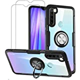VICEANICS for Xiaomi Redmi Note 8 Case, Crystal Clear Armor Case Cover with Magnetic Finger Ring Holder Kickstand & [2 Pack]