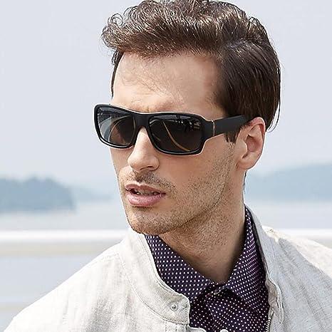 HONEY Lässige Herren-Sonnenbrille - Polarisierte Fahrbrille - Voller UV400-Schutz - Schwarz gefrosteter Rahmen KokMeCNGF