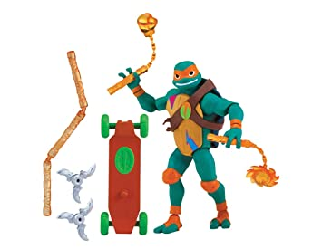 Teenage Mutant Ninja Turtles TUAB0200 Mikey The Ninja Artist The Rise of Basic Action Figura