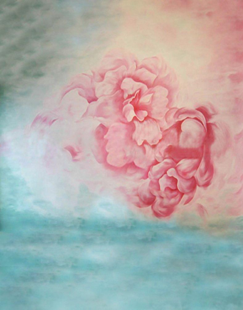 ピンク花写真の背景幕写真小道具Studio背景5 x 7ft   B01HJPNMSU