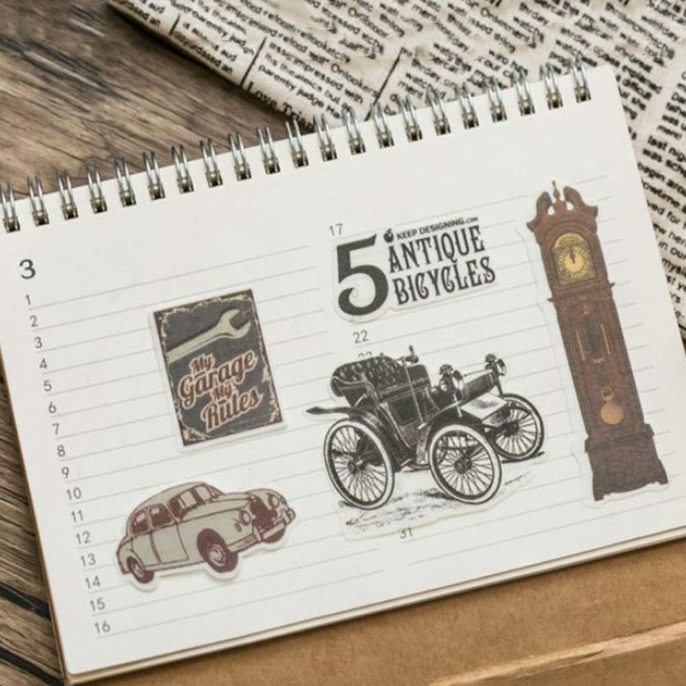 eroute66 Vintage Light Clock Furniture Plant DIY Scrapbooking Album Diary Stickers 2Pcs 1# by eroute66 (Image #5)