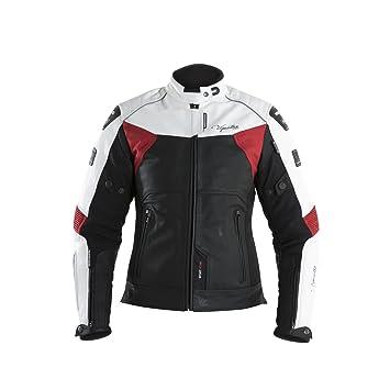 V Quattro Design Chaqueta Moto Mujer sp-81l, Negro/Blanco: Amazon.es: Coche y moto