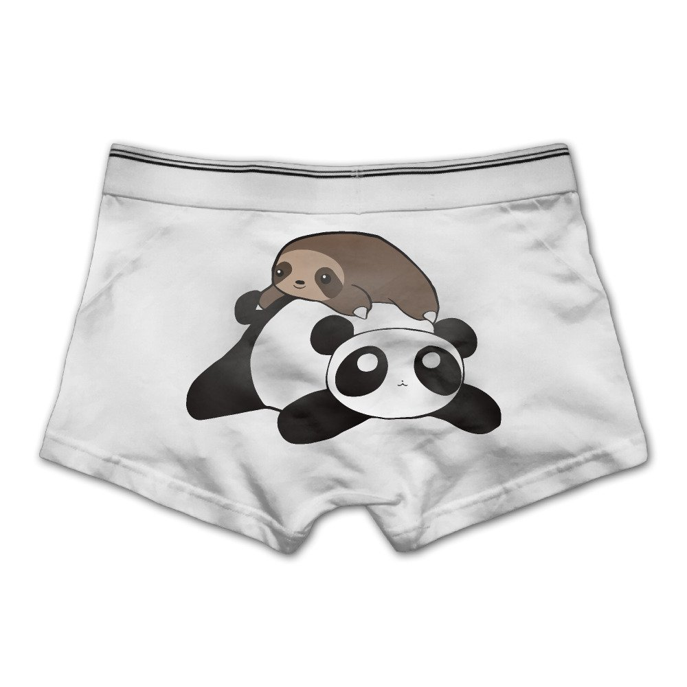 YISHOW Panda Sloth Stack Men's Seamless Boxer Brief Breathable Underwear