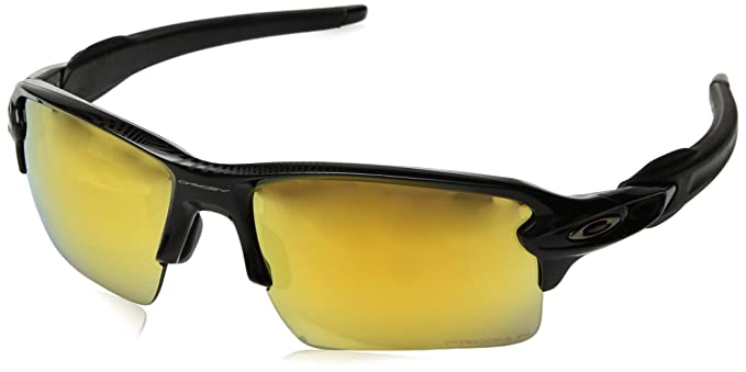 9e32a389f9c Oakley Men s Flak 2.0 XL Polarized Iridium Rectangular Sunglasses POLISHED  BLACK 59 mm