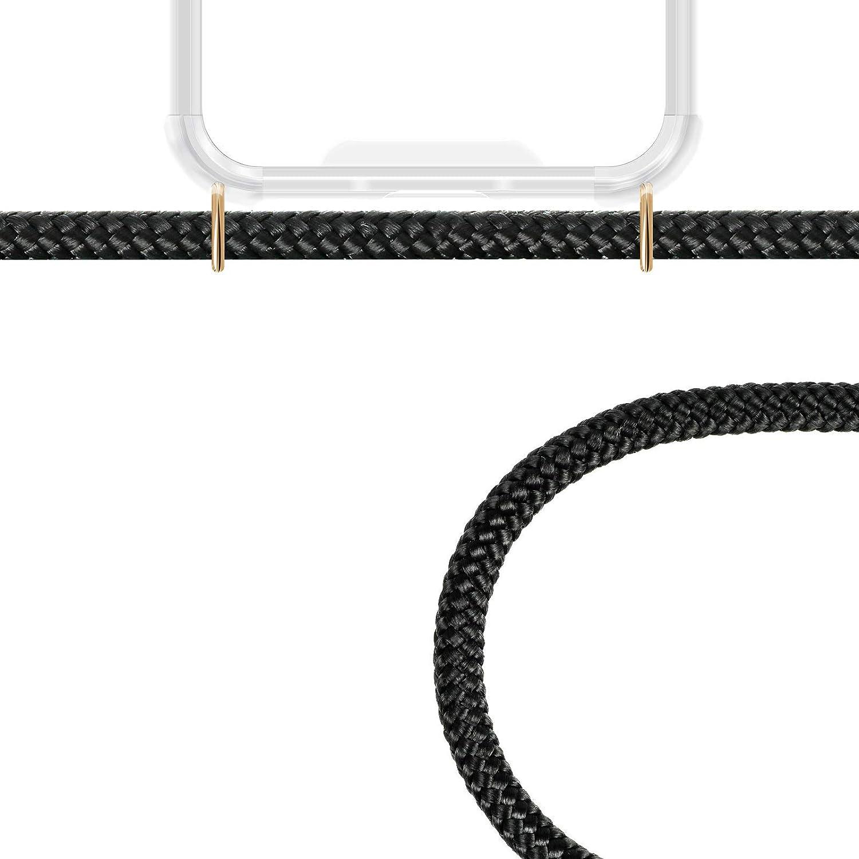 Funda con Collar de Cord/ón para Smartphone Carcasa con Correa para Celular para Llevar Negro ZhinkArts Cadena para Tel/éfono M/óvil Compatible con Samsung Galaxy S8
