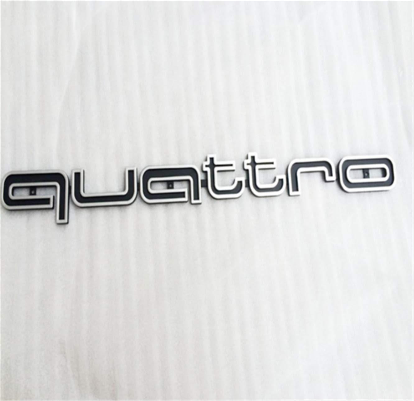 A8 Q1-Q7 Logo Black Sticker Quattro Sline Emblem Front RS Badge Grill A1
