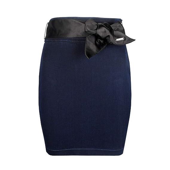 Guess Falda Denim Skirt - W63D53D27HO - 30 - IT34: Amazon.es: Ropa ...