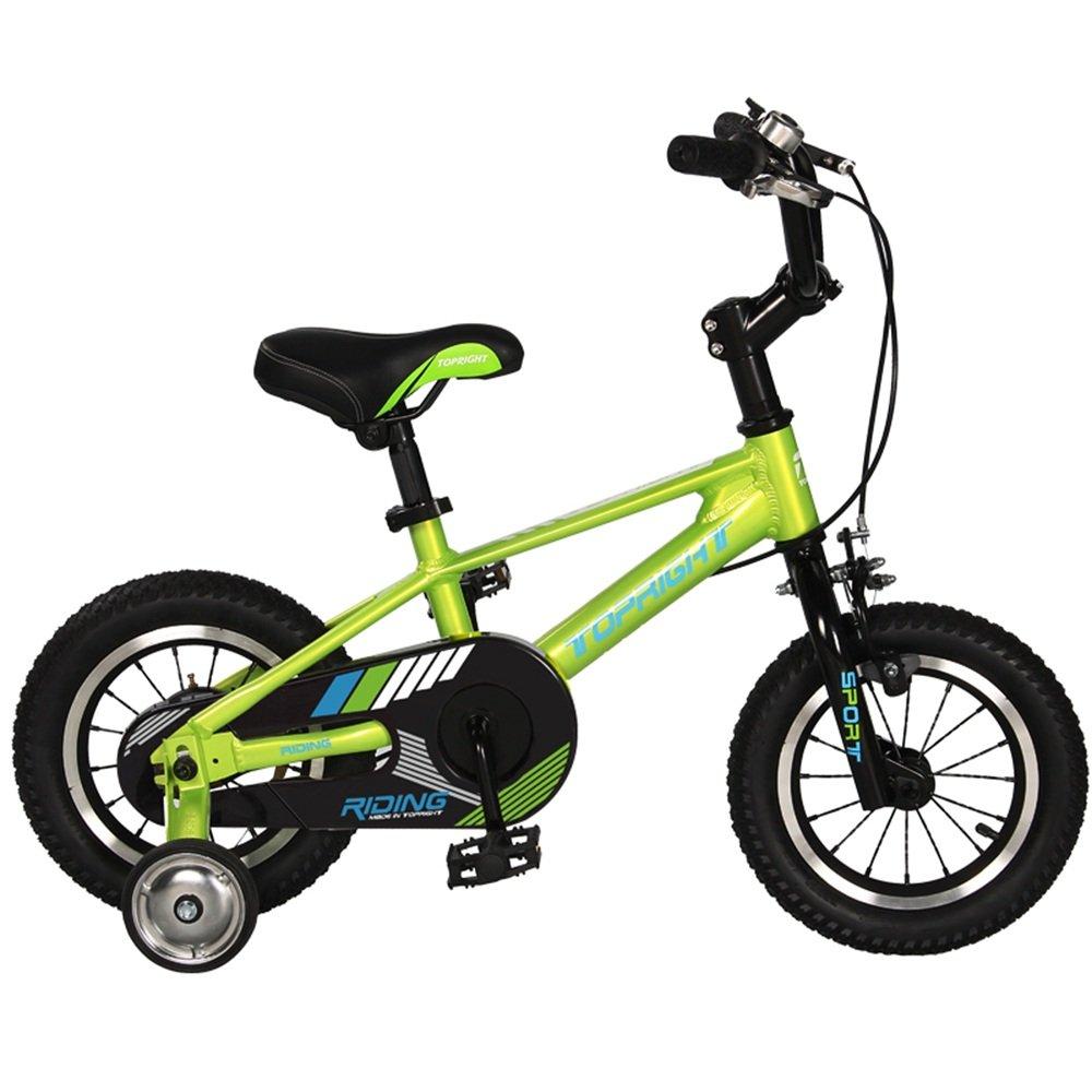 HAIZHEN マウンテンバイク 2歳から10歳のバイク ベストスポーツバイクボーイズ&ガールズ キッズは、軽いファーストバイクでトリシクルをスキップする 新生児 B07C3SC7PR 18 inch|緑 緑 18 inch