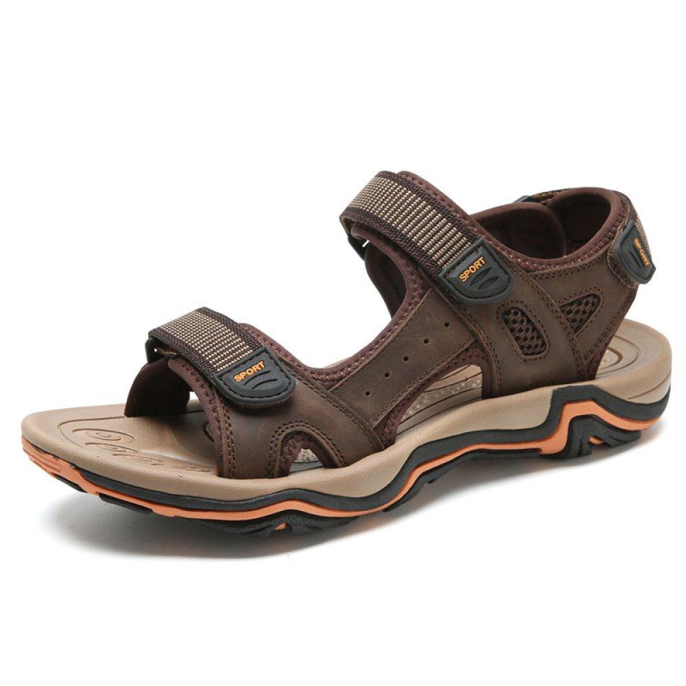 Sandalias De Verano para Hombre Zapatillas De Deporte Transpirables Sandalias De Playa Al Aire Libre Sandalias De Velcro con Velcro 39 EU|Brown