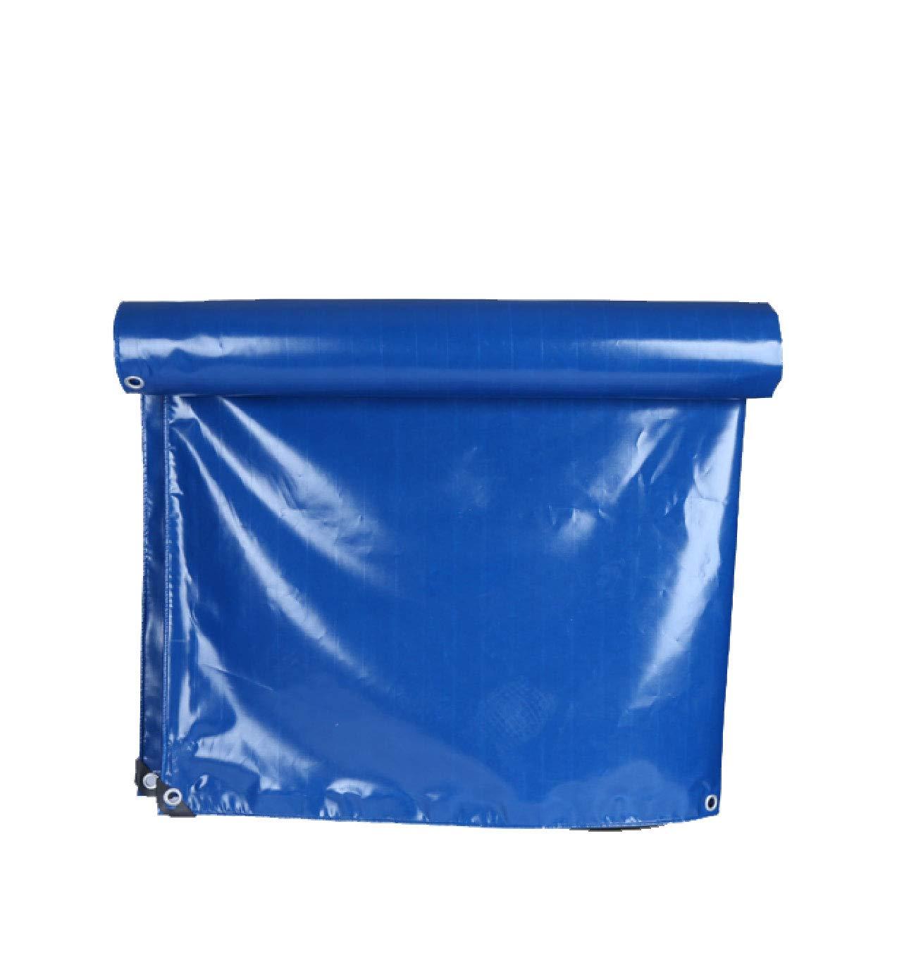 Qwertuiip Tarpaulin Wasserdichtes Tuch, PVC hellblau PVC Tuch, Wasserdichte Sonnencreme verschleißfestem Tuch Messer zieht Ultra-leichte Auto LKW-Plane Leinwand Planen Vielzahl von Größenauswahl 0630a0