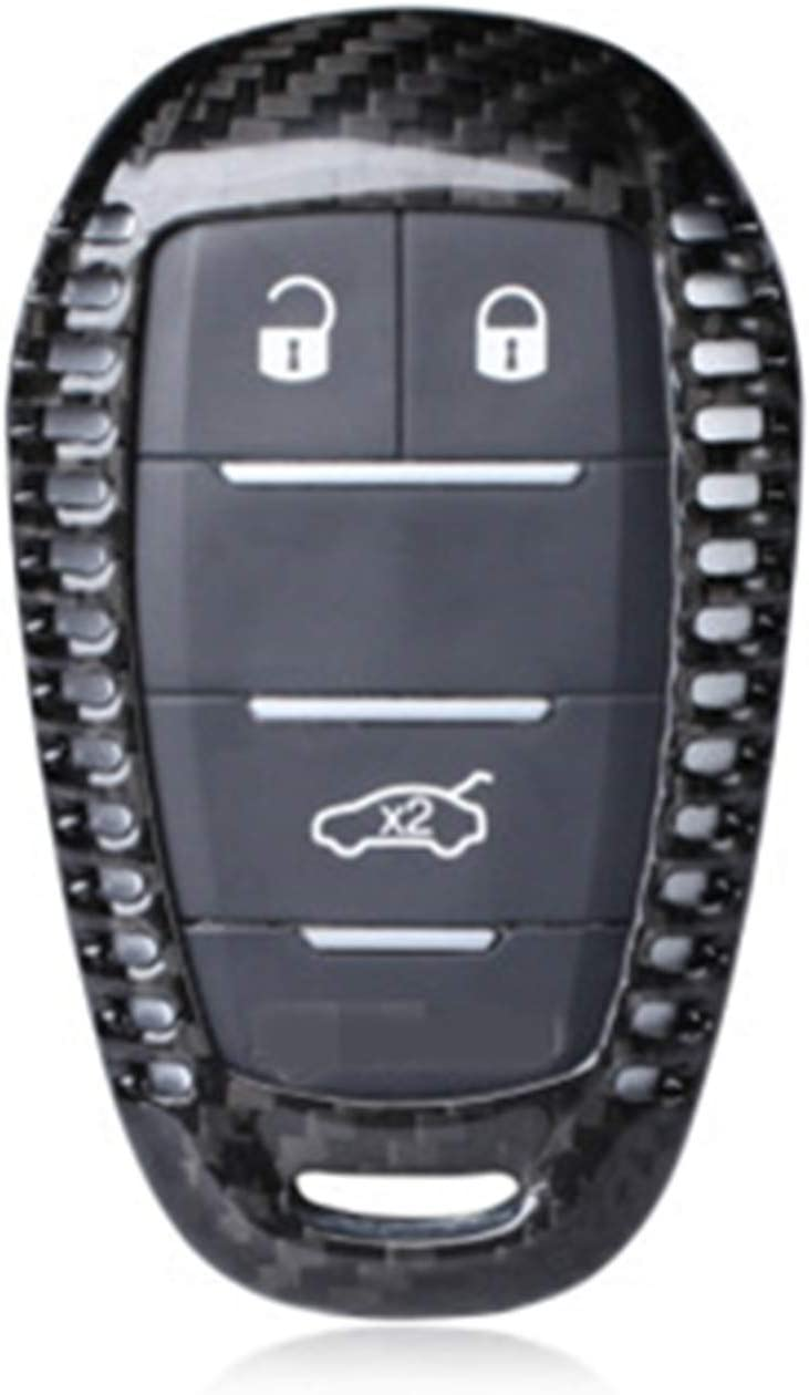 Carbon Fiber Case For Alfa Romeo Key Fob, Genuine Carbon Fiber Cover For Alfa Romeo Giulia Alfa Romeo Stelvio Smart Keyless Fob Remote Key, Men's Car Key Fob Case Protector Women's Fob Cover - Black