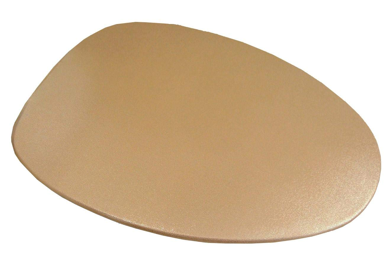 Special Shiny Edition of Fabric Cover for a lid Toilet SEAT for Round & Elongated Models - Handmade in USA (Gold) by NCC New Concept Cover