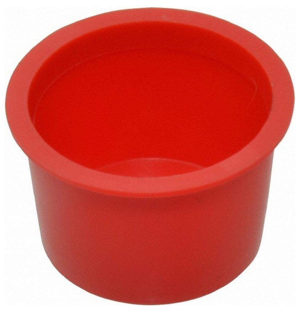 Press Fit Plug, 3/4 NPT OD, Polyethylene, Red 100 Pack