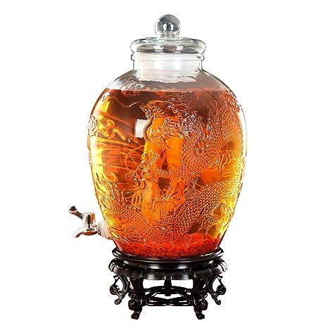 DIOE 1660/5000 Dispensador de bebidas de vidrio espesado ...
