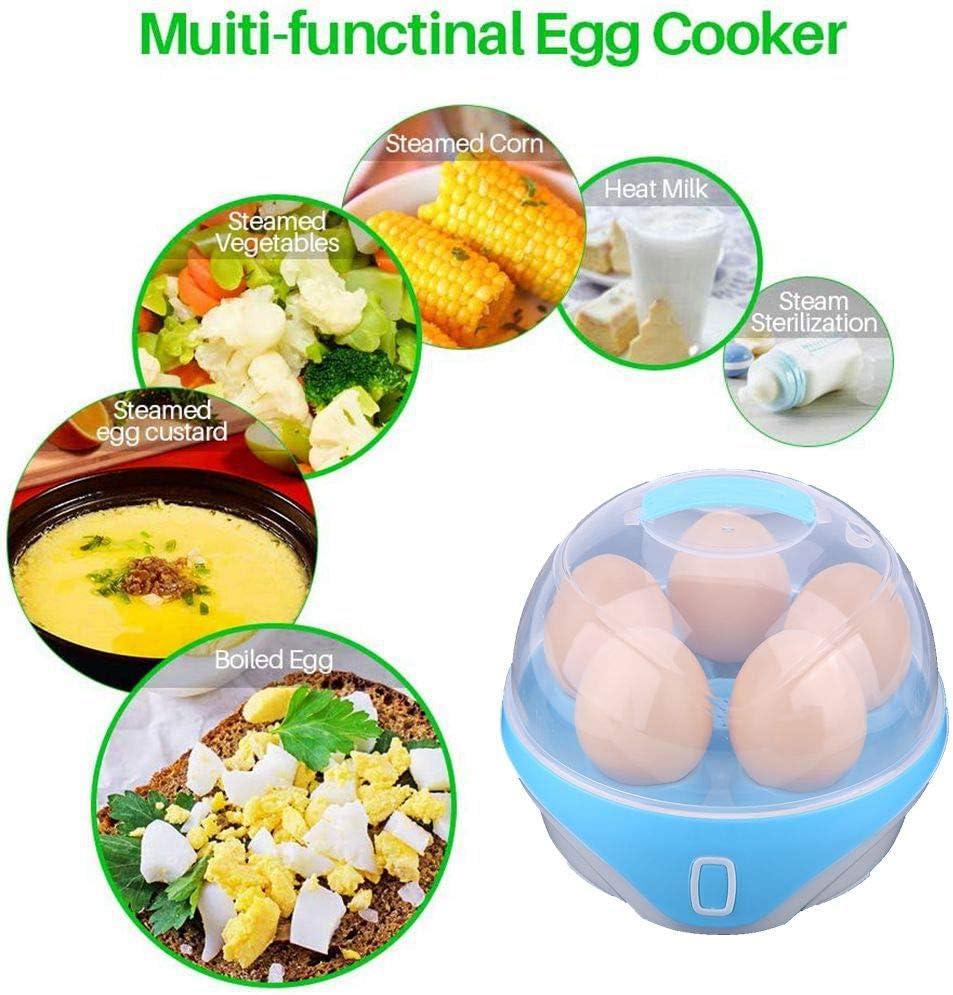 Egg Boiler Poacher Electric Cooker con Accesorio De Vapor para Huevos Suaves Y Duros Egg Cooker Electric Multifuncional Auto Apagado ProteccióN contra ...